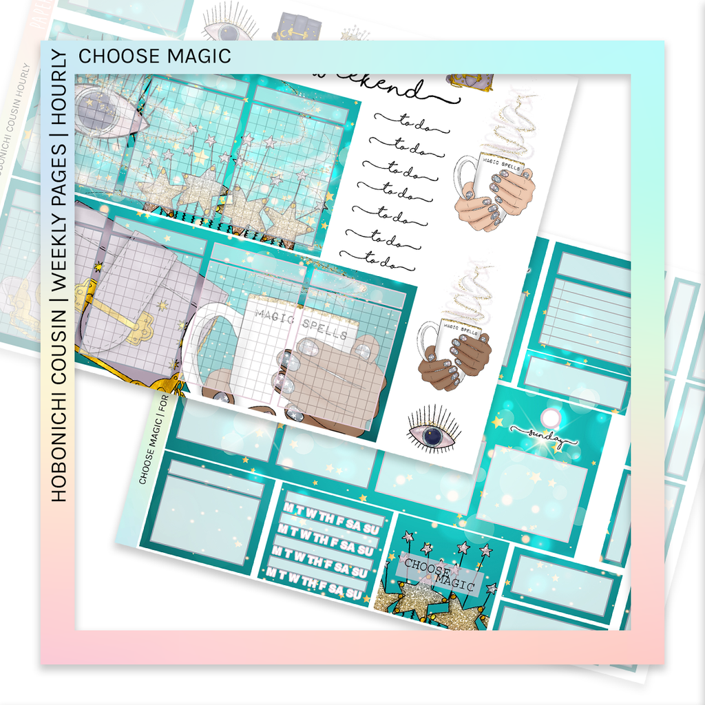 HOBONICHI COUSIN | HOURLY STICKER KIT | Choose Magic