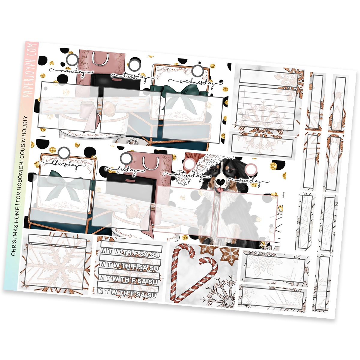 HOBONICHI COUSIN | HOURLY STICKER KIT | Christmas Home