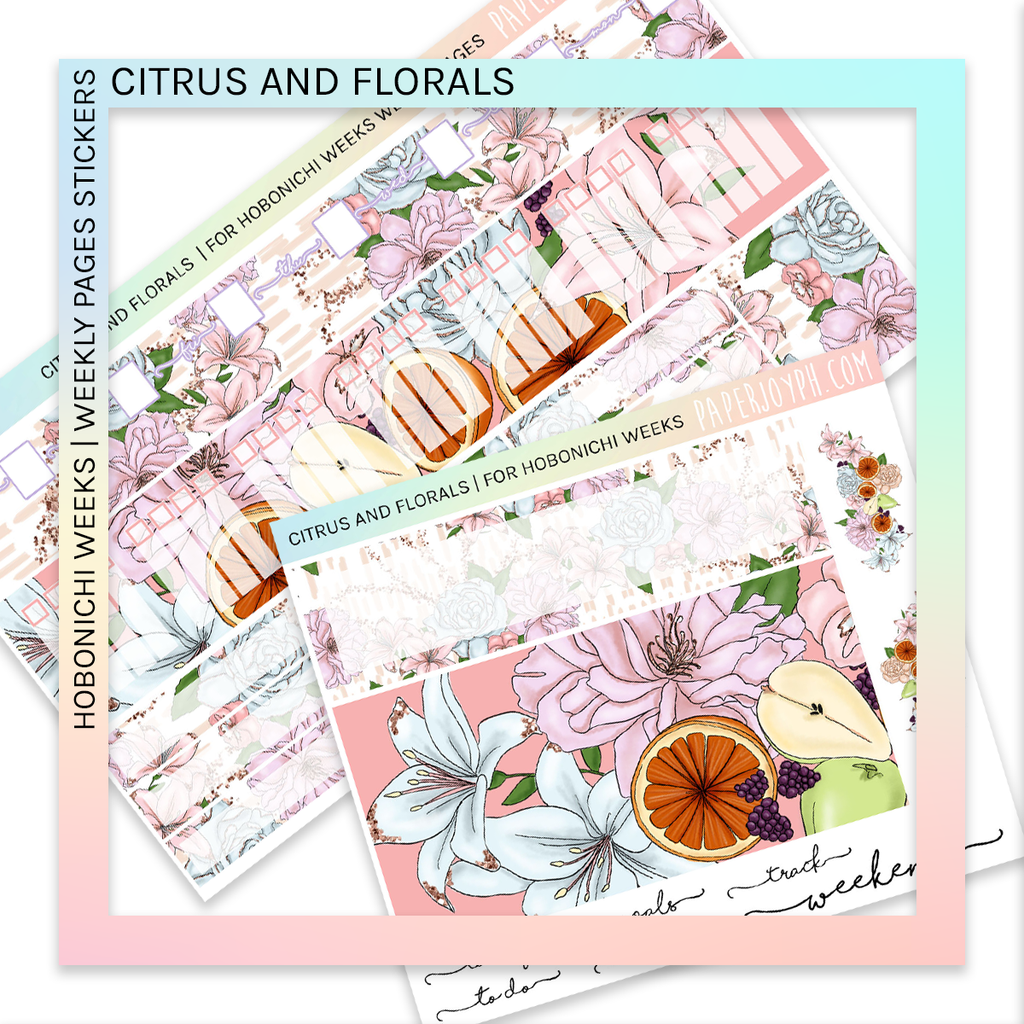 HOBONICHI WEEKS | WEEKLY PAGES | Citrus and Florals