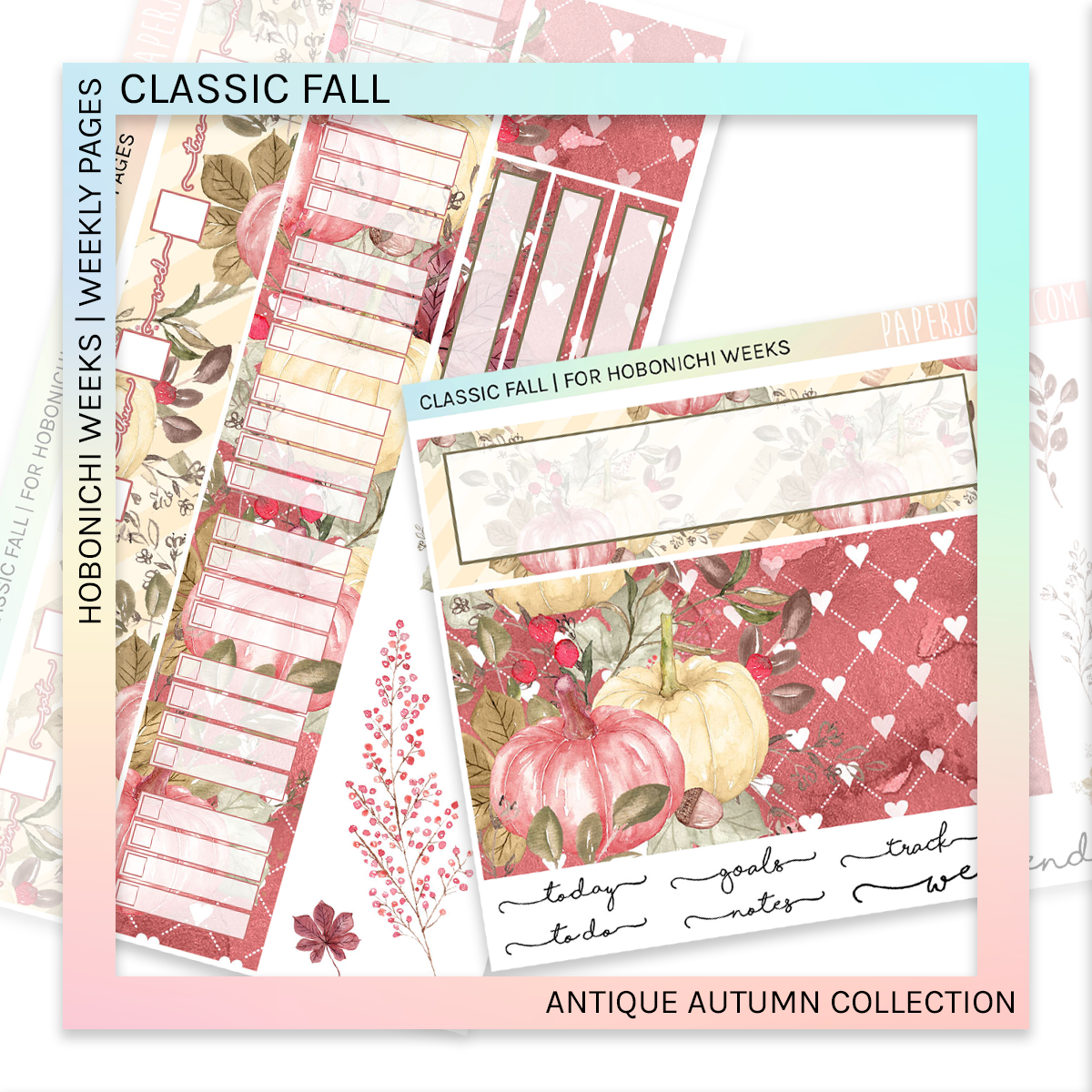 HOBONICHI WEEKS | WEEKLY PAGES | Antique Autumn Bundle