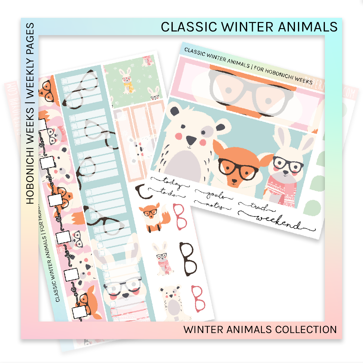 HOBONICHI WEEKS | WEEKLY PAGES | Classic Winter Animals