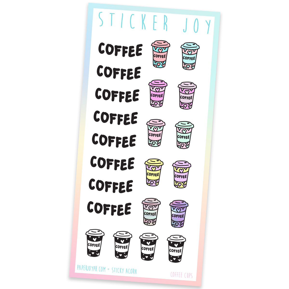 STICKER JOY | Coffee Cups