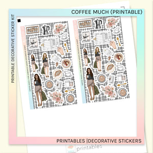 PRINTABLE | DECORATIVE SHEET | Coffee Much