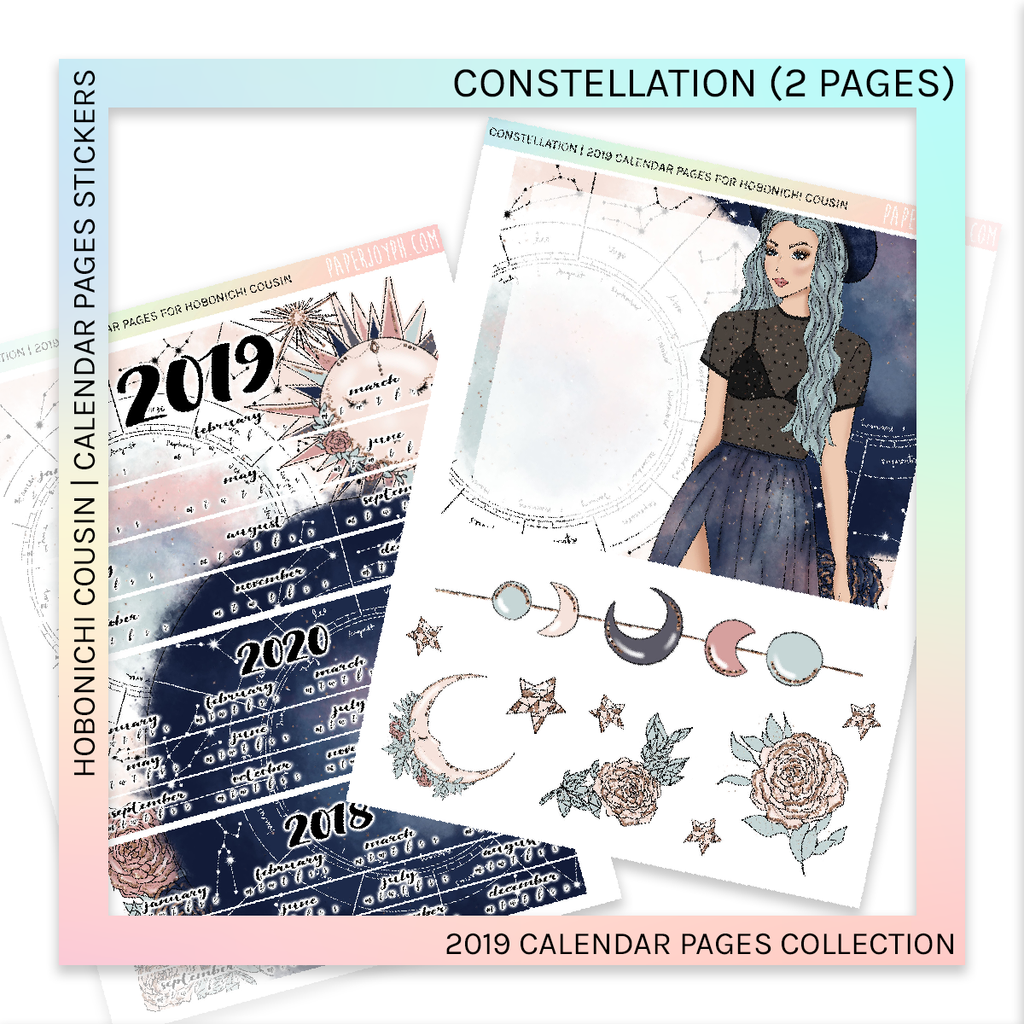 HOBONICHI COUSIN | CALENDAR PAGES | Constellation