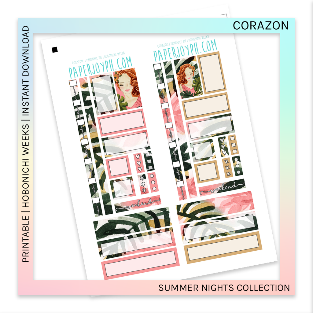 PRINTABLE | HOBONICHI WEEKS | Corazon