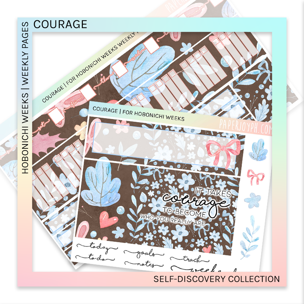 HOBONICHI WEEKS | WEEKLY PAGES | COURAGE