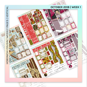 HOBONICHI COUSIN | VERTICAL STICKER KIT | All I Want