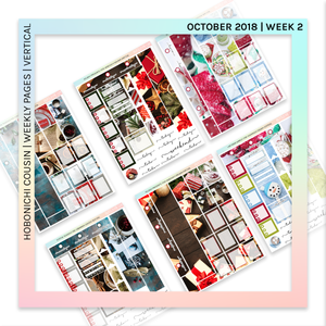 HOBONICHI COUSIN | VERTICAL STICKER KIT | Festive Season