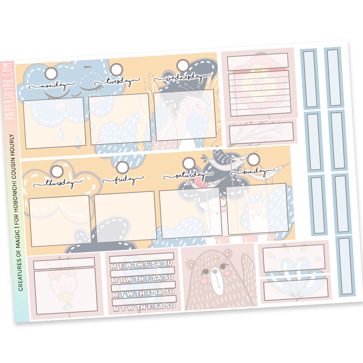 HOBONICHI COUSIN | HOURLY STICKER KIT | Creatures of Magic