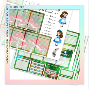 HOBONICHI COUSIN | HOURLY STICKER KIT | Curiouser