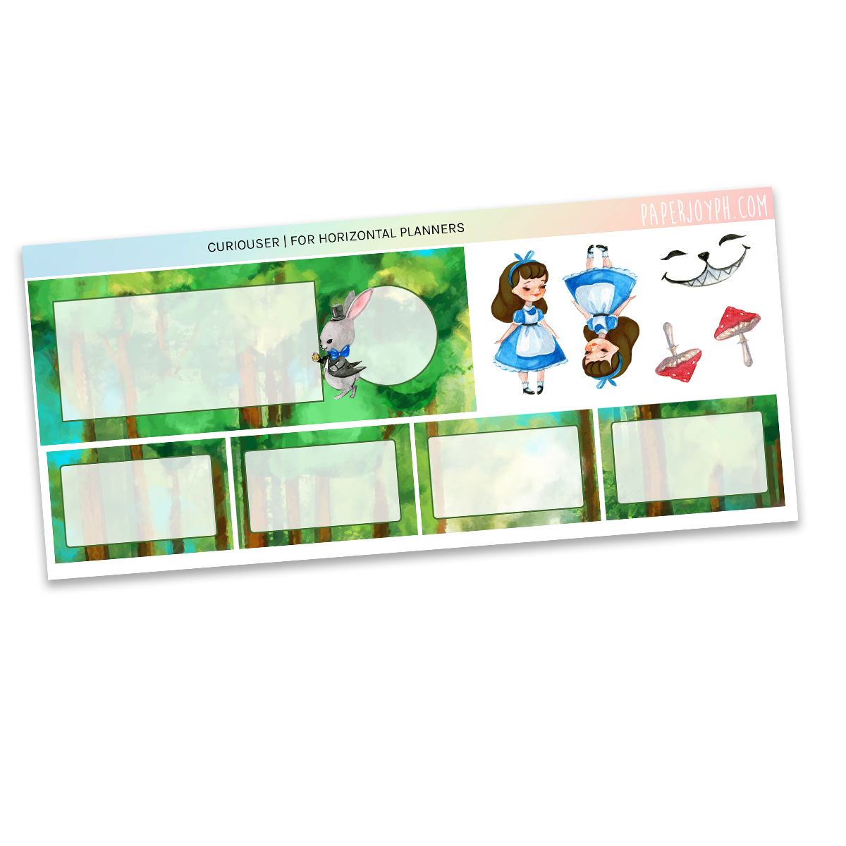 HORIZONTAL PLANNER STICKER KIT | Curiouser