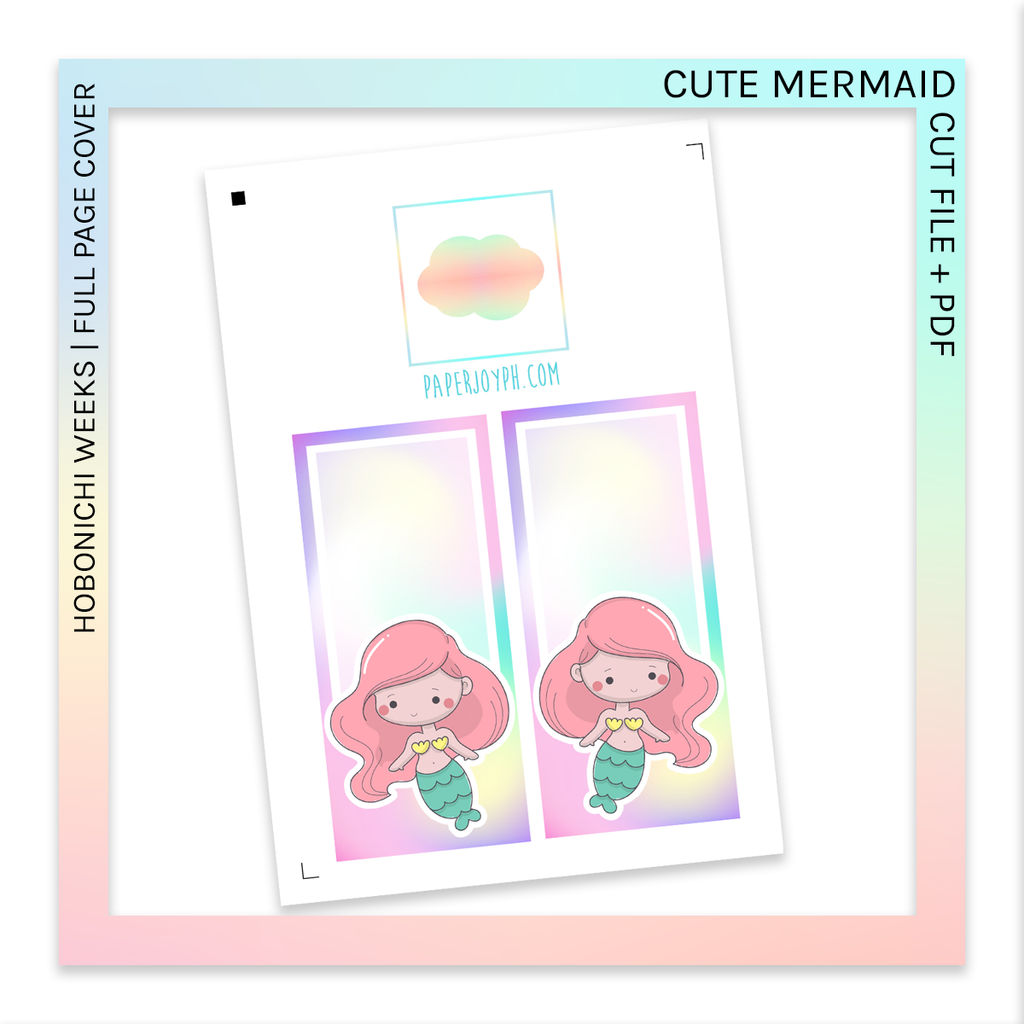 PRINTABLE | HOBONICHI WEEKS FULL PAGE STICKERS | Cute Mermaid