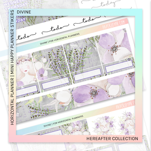 HORIZONTAL PLANNER STICKER KIT | Divine