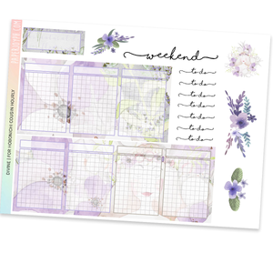 HOBONICHI COUSIN | HOURLY STICKER KIT | Divine
