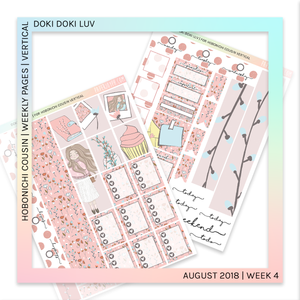 HOBONICHI COUSIN | VERTICAL STICKER KIT | Doki Doki Luv