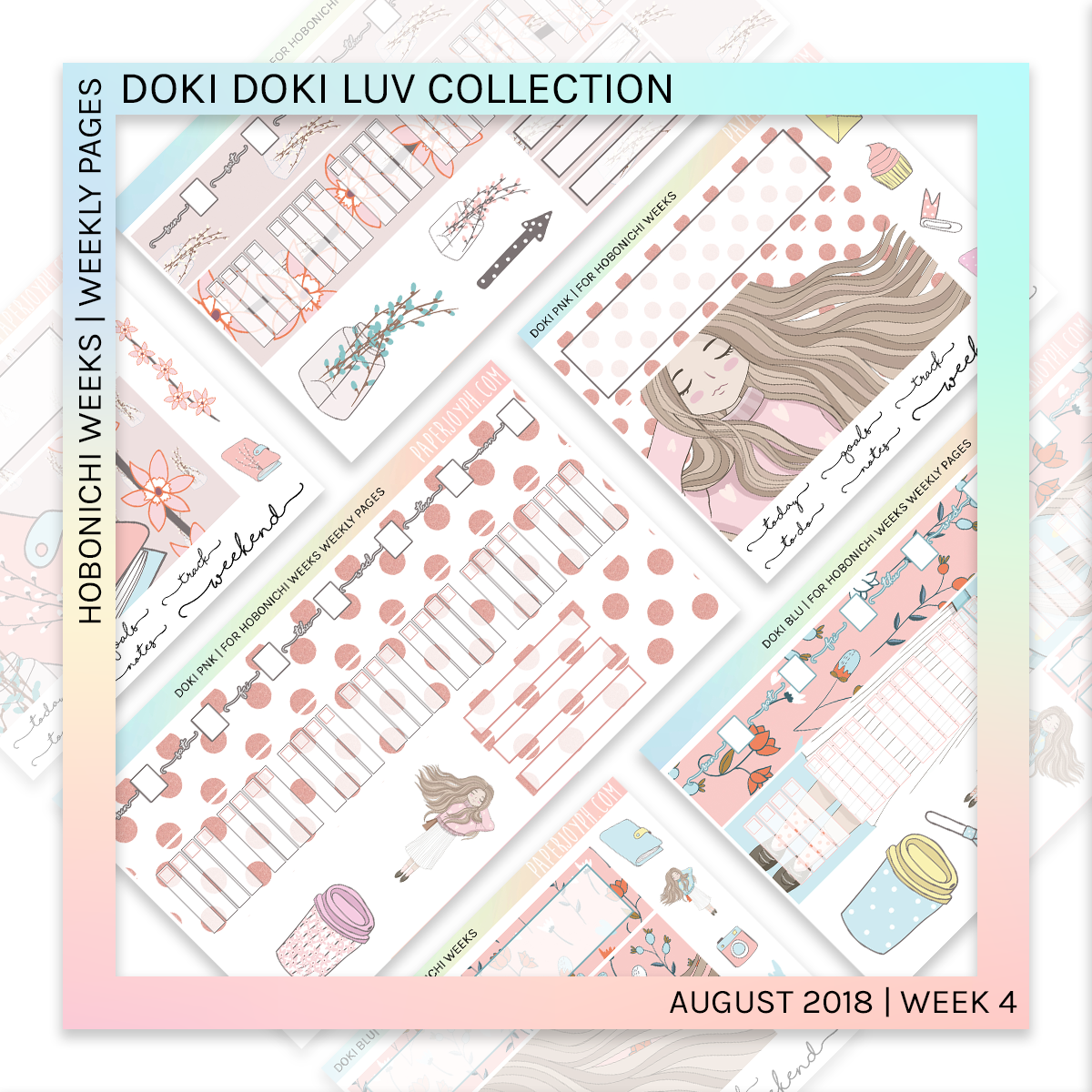 HOBONICHI WEEKS | WEEKLY PAGES | Doki Pnk