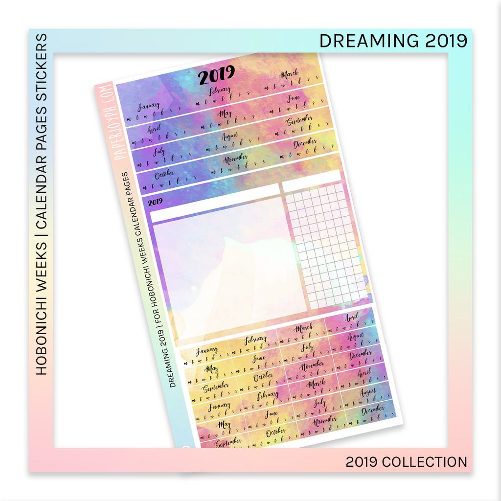 HOBONICHI WEEKS | CALENDAR PAGES | Dreaming  2019