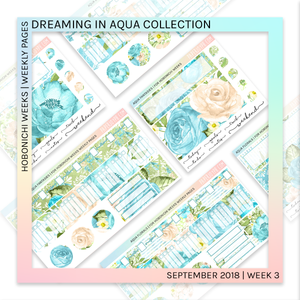 HOBONICHI WEEKS | WEEKLY PAGES | Aqua Dreams