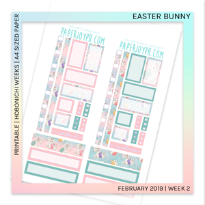 PRINTABLE | HOBONICHI WEEKS | Easter Bunny A4 size paper