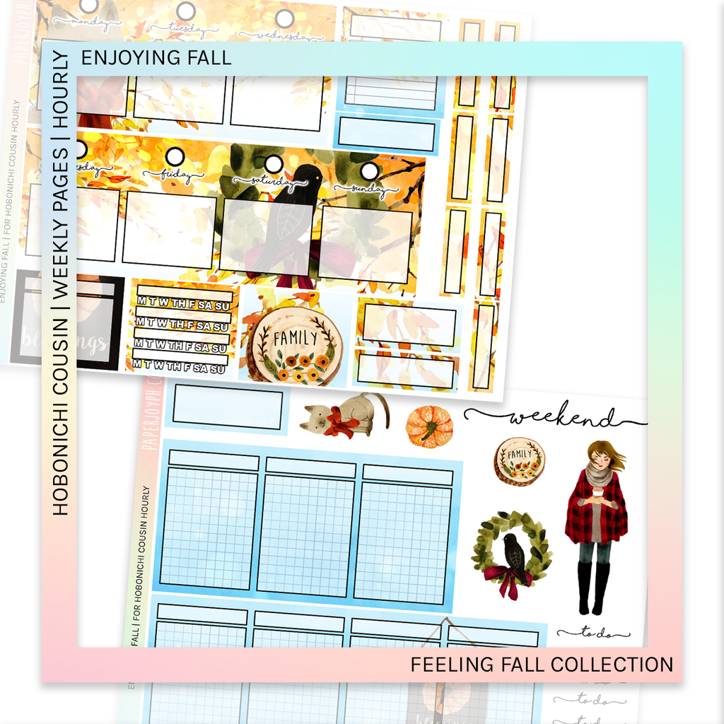 HOBONICHI COUSIN | HOURLY STICKER KIT | Enjoying Fall