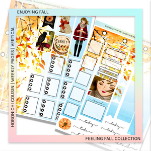 HOBONICHI COUSIN | VERTICAL STICKER KIT | ENJOYING FALL