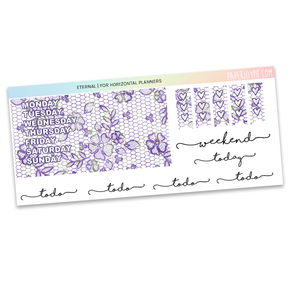 HORIZONTAL PLANNER STICKER KIT | Eternal