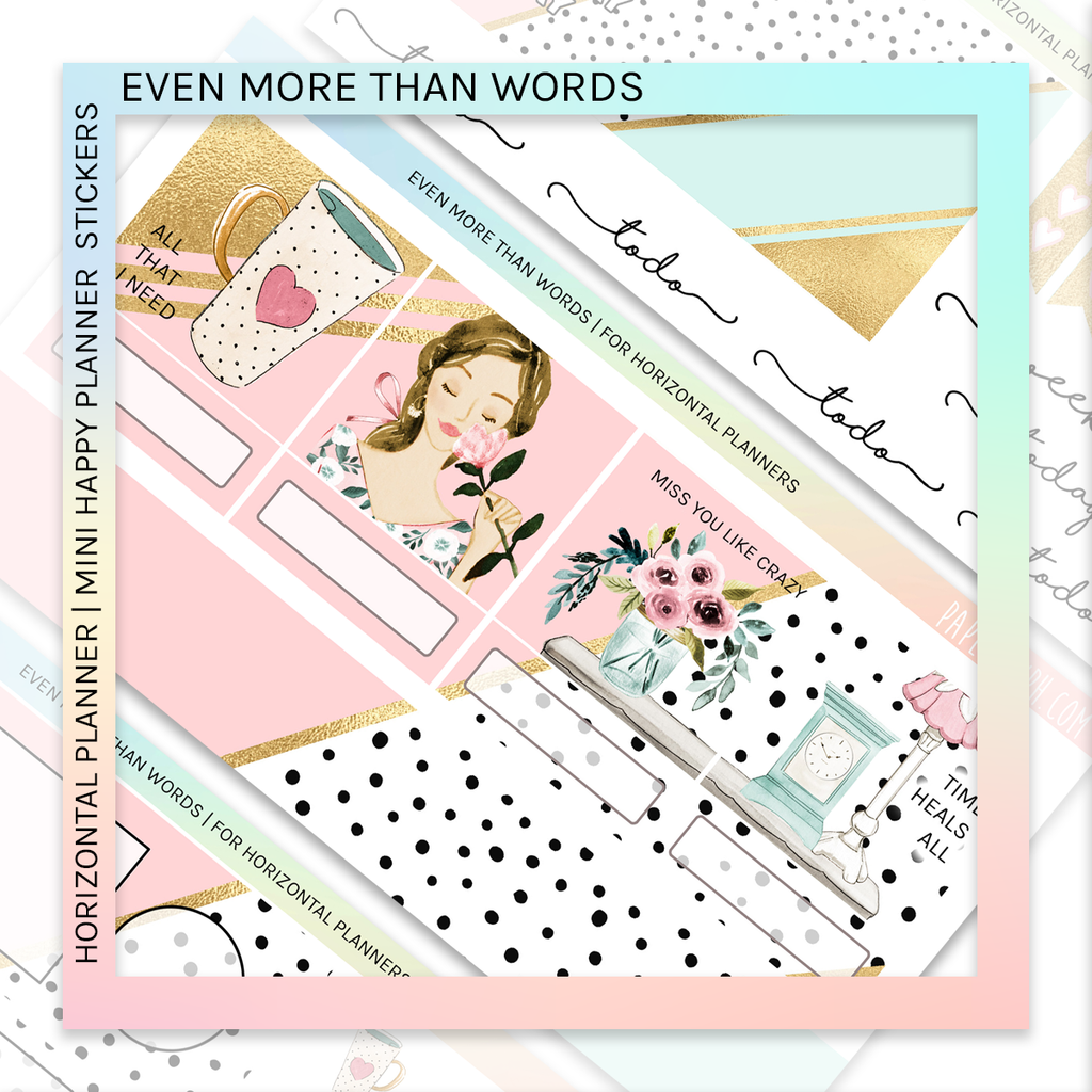 HORIZONTAL PLANNER STICKER KIT | Even More Than Words