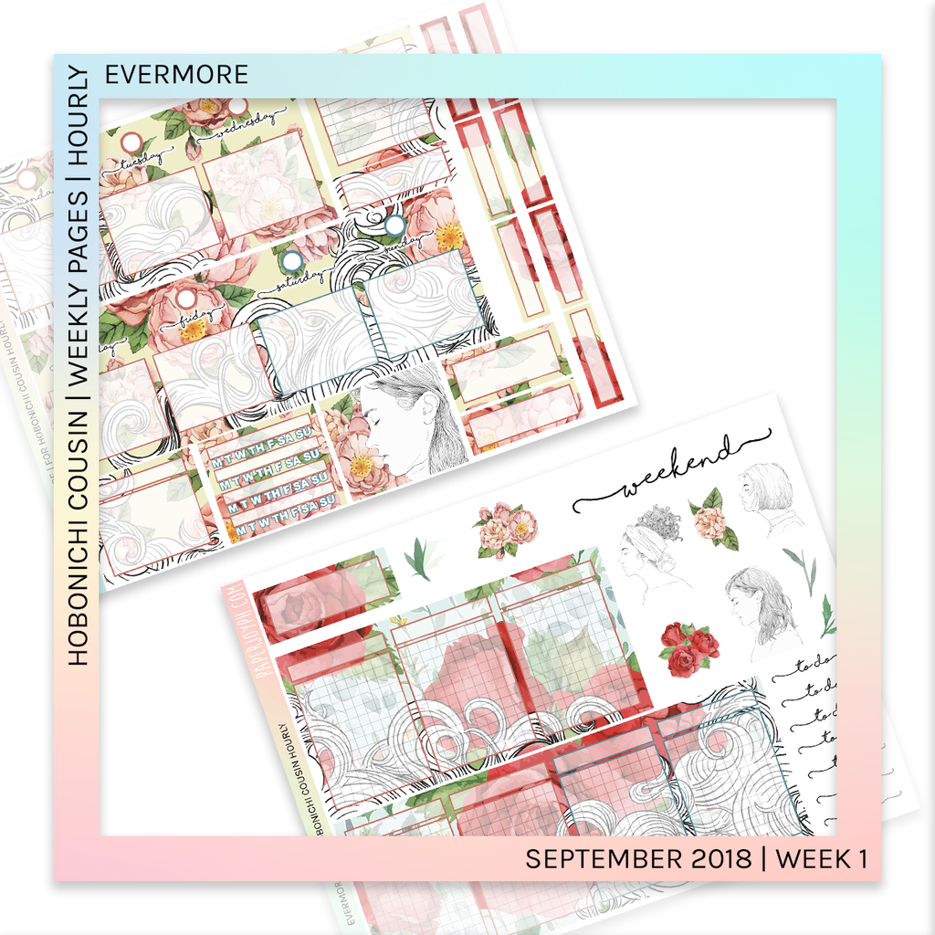 HOBONICHI COUSIN | HOURLY STICKER KIT | Evermore