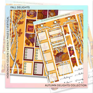 HOBONICHI COUSIN | VERTICAL STICKER KIT | FALL DELIGHTS