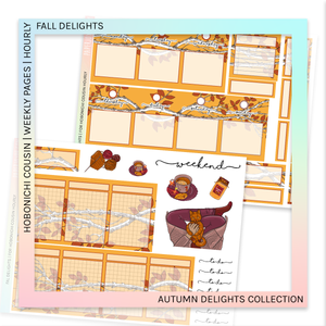HOBONICHI COUSIN | HOURLY STICKER KIT | FALL DELIGHTS