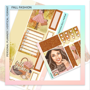 VERTICAL PLANNER STICKER KIT | Fashion Fall