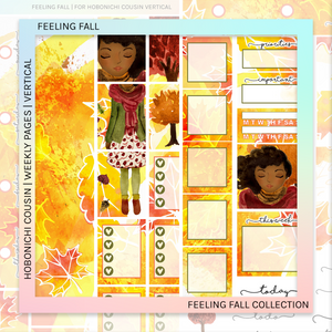 HOBONICHI COUSIN | VERTICAL STICKER KIT | FEELING FALL