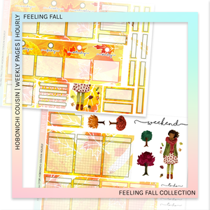 HOBONICHI COUSIN | HOURLY STICKER KIT | Feeling Fall