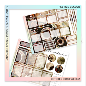 HOBONICHI COUSIN | HOURLY STICKER KIT | Festive Season