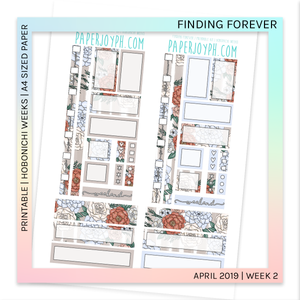 PRINTABLE | HOBONICHI WEEKS | Finding Forever A4 size paper