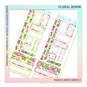 PRINTABLE | HOBONICHI WEEKS | Flower Bomb A4 size paper