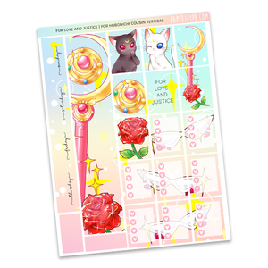 HOBONICHI COUSIN | VERTICAL STICKER KIT | For Love and Justice