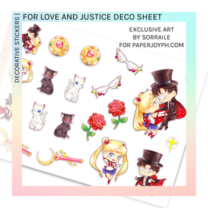DECORATIVE SHEET | For Love and Justice
