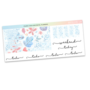 HORIZONTAL PLANNER STICKER KIT | Found