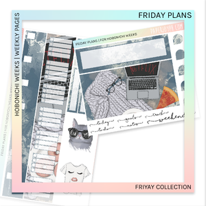 HOBONICHI WEEKS | WEEKLY PAGES | Friday Plans