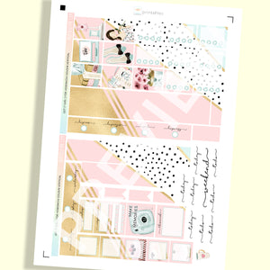 PRINTABLES | HOBONICHI COUSIN | VERTICAL STICKER KIT | GET IT GIRL