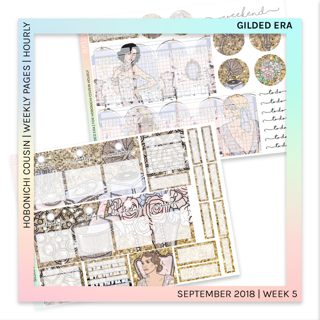 HOBONICHI COUSIN | HOURLY STICKER KIT | Gilded Era
