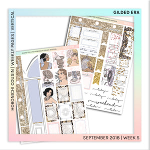 HOBONICHI COUSIN | VERTICAL STICKER KIT | Gilded Era