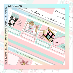 HORIZONTAL PLANNER STICKER KIT | Girl Gear