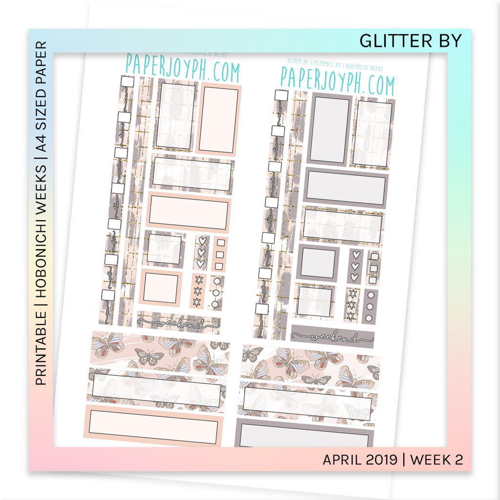 PRINTABLE | HOBONICHI WEEKS | Glitter By A4 size paper