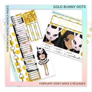 HOBONICHI WEEKS | WEEKLY PAGES | Gold Bunny Dots