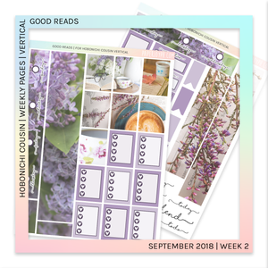 HOBONICHI COUSIN | VERTICAL STICKER KIT | Good Reads