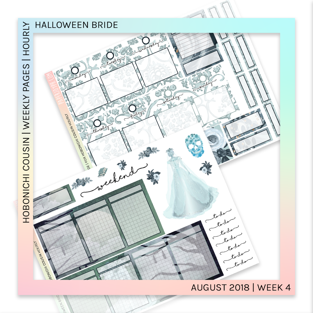 HOBONICHI COUSIN | HOURLY STICKER KIT | Halloween Bride