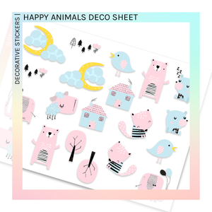 DECORATIVE SHEET | Happy Animals
