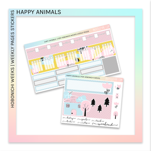 HOBONICHI WEEKS | WEEKLY PAGES | Happy Animals